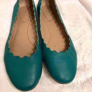 3d92d665f Chloe Shoes - Chloe teal ballet flat shoes size 37.5